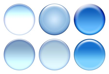 Blank blue icons isolated on white Stock Photo
