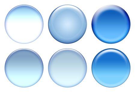 Blank blue icons isolated on white Stock Photo