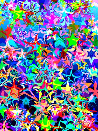 Coloured star background Stock Photo