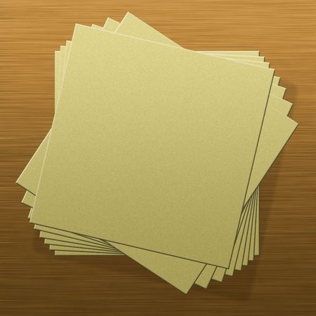 Blank notepad pages on wood texture