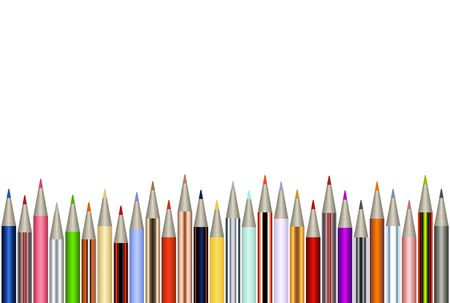 Assortment of color pencils Stock Photo
