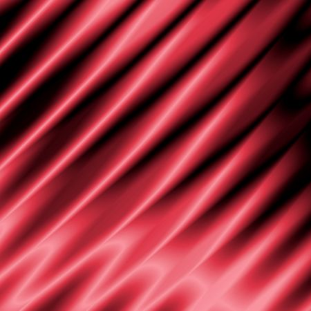 Red satin with folds Stock Photo