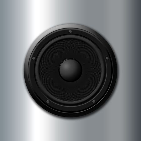 Sound icon - Black speaker Stock Photo