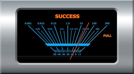 Success concept - success device pointing full level