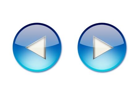 Blue navigation icons