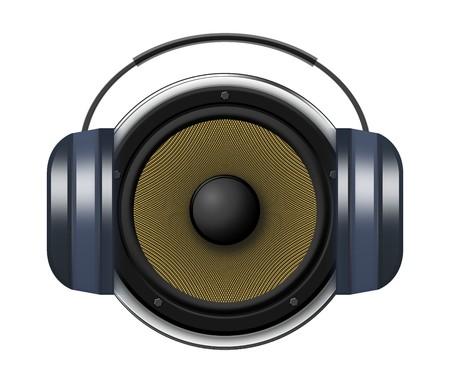 Music icon - speaker with headphone