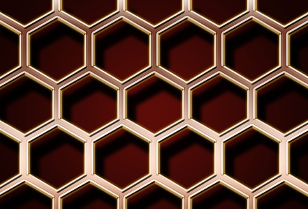 Honeycomb metal grid with shadows