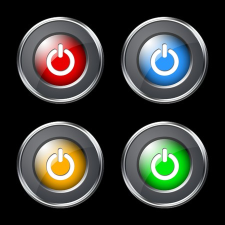 Power buttons set Stock Photo