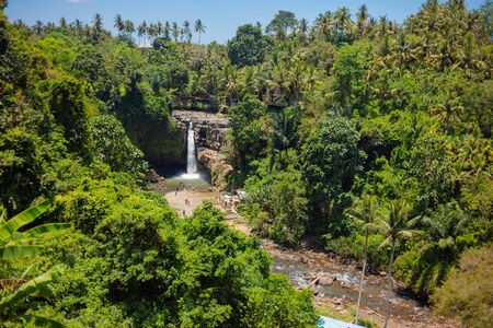 08-10-2018 - Tegenungan Waterfall, Ubud in Bali, Indonesia Editorial