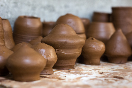 red clay: Pottery preforms from red clay