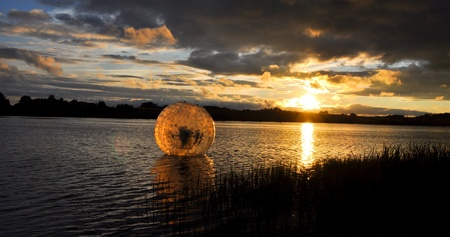 waterball  in the lake