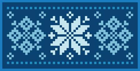 Vector Image Norwegian snowflakes
