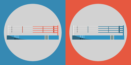 Boxing ring icon. Color sports arena. Sports Equipment.