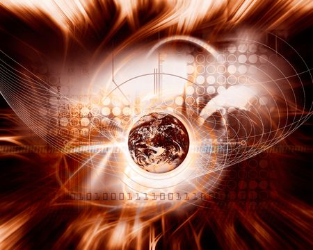 cybernetics: abstract background Stock Photo