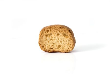 toasted bread, rusk, baking, fresh, piece ,of slice, on a white background to,overwhite