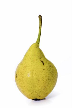 pear on white background yellow zedenaya big juicy fruit vegetable fruit summer food meal breakfast Stock Photo - 5379532