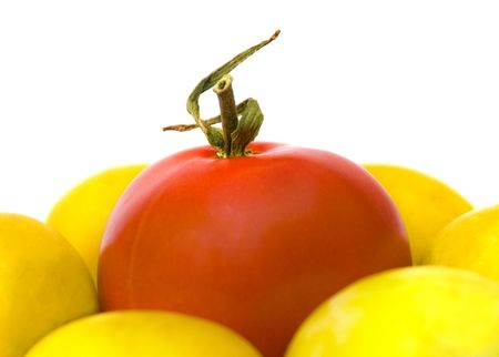 tomato,agriculture, biology, circle, close, close-up, color, colored, crop, diet, eating, food, gardening, gourmet, green, growth, healthy, ingredients, market, nature, objects, plant, red, ripe, salad, salat, shiny, texture, tomatoes, vitamin, white
