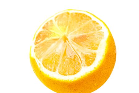 sliced lemon yellow on a white background beautiful bright yellow citrus