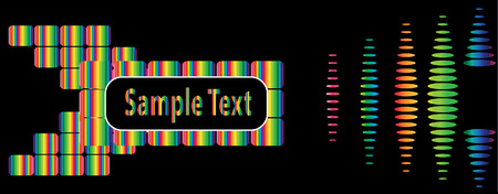 flayers for nightclubs and other entertainment with a place for your text box is very bright and beautiful acid Vector