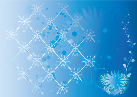winter  background for design and designers to produce brochures and postcards vignettes Web design Stock Vector - 6122434