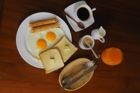 Conjunto de desayuno americano Foto de archivo
