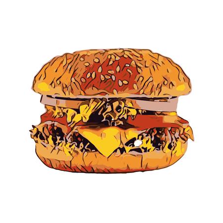 Fast food, cheeseburger.