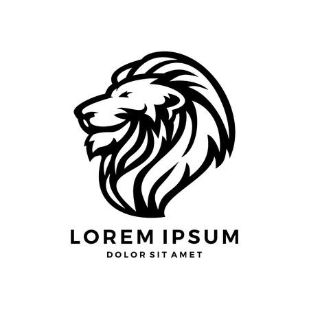 Lion head logo vector. Illustration