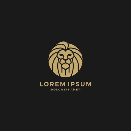lion head logo round circle emblem badge vector download