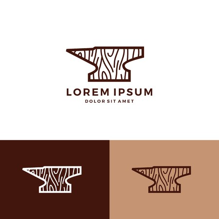 Iron wood icon vector carpenter woodworker download