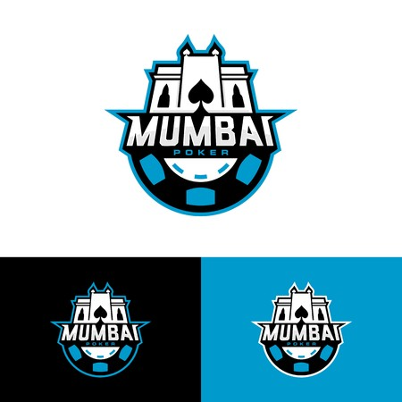 mumbai poker team logo vector download Illustration