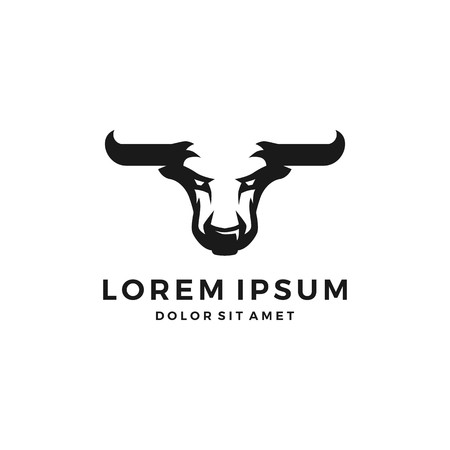 Bull el toro logo vector head negative space angry download 일러스트