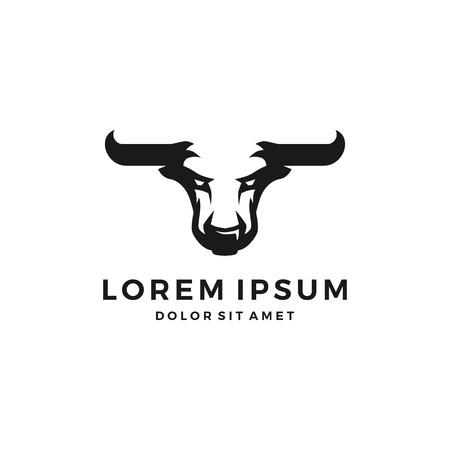 Bull el toro logo vector head negative space angry download Illustration