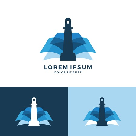 Lighthouse book vector icon download