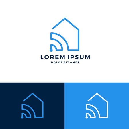 Smart home, house signal wifi, wireless icon vector download.