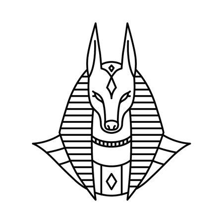 anubis logo vector line art esquema ilustración monoline Logos