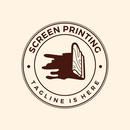 sérigraphie sérigraphie logo emblème insigne timbre illustration vectorielle