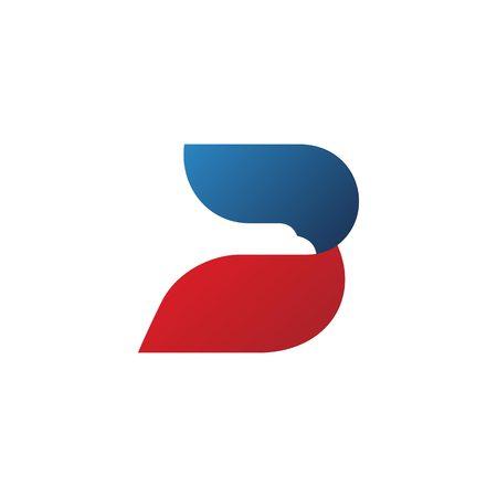 B letter bird logo vector icon Illustration