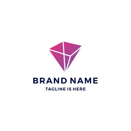 geometric prism logo vector blockchain bitcoin ethereum vector Stock Illustratie