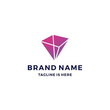 geometrische Prisma Logo Vektor Blockchain Bitcoin Ethereum Vektor