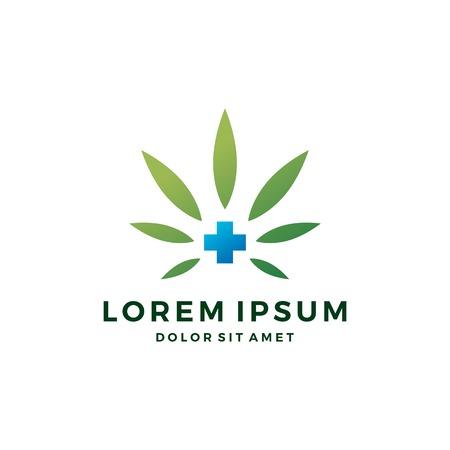 medical cannabis logo vector hemp leaf icon download 向量圖像