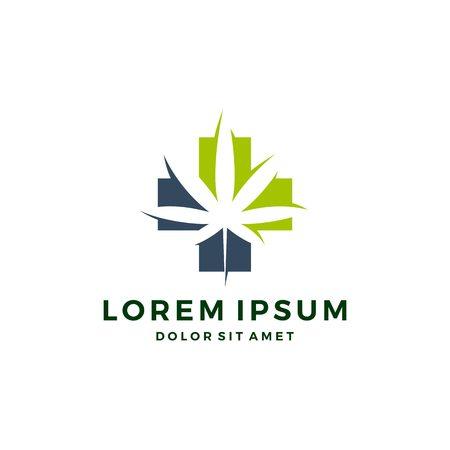 Download des medizinischen Cannabis-Logo-Vektor-Hanfblatt-Symbols
