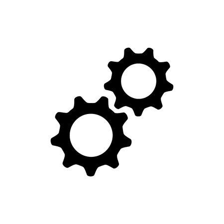 vecteur d & # 39; icône de logo de réglage d & # 39; engrenage
