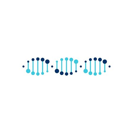 DNA helix strand vector logo element illustration Vectores