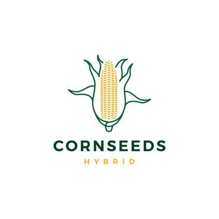 corn logo vector icon illustration line outline monoline Illustration
