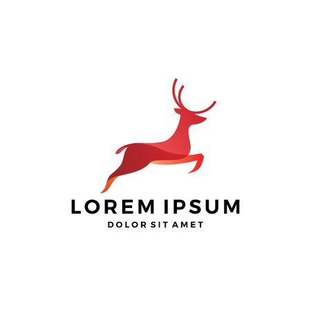 jumping deer logo vector design inspirations