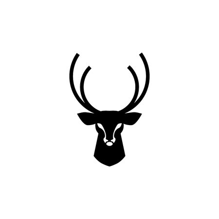 deer head logo vector design inspirations  イラスト・ベクター素材