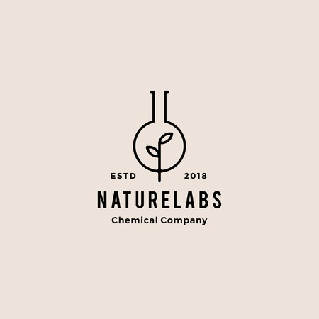 blad lab natuur hipster retro vintage logo badges vector pictogram illustratie