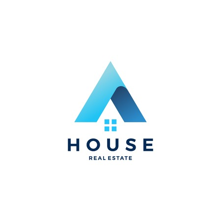 A letter house home mortgage real estate logo vector icon