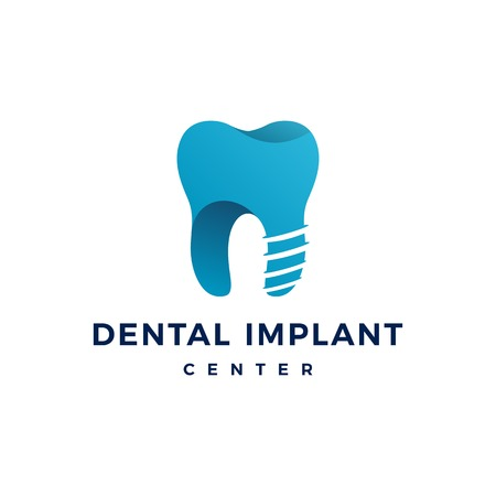 tandheelkundig implantaat logo tanden tand vector pictogram