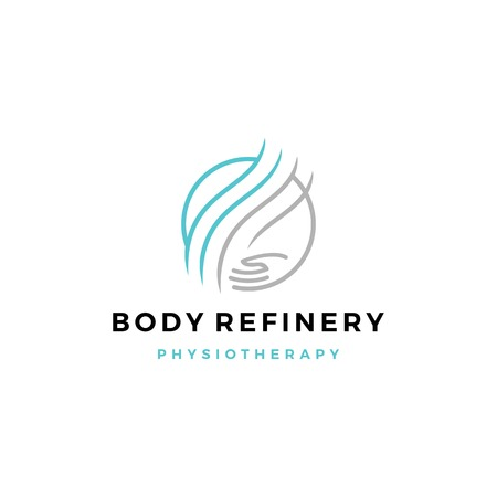body refinery hand care circle logo vector icon Stock Illustratie